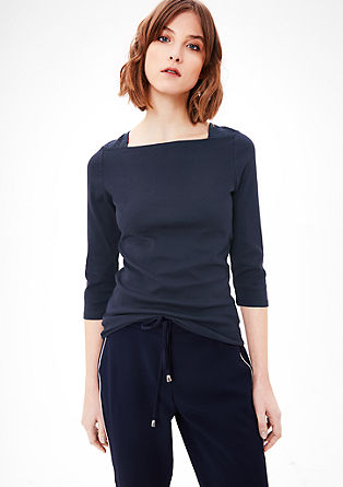Stretchy top with 3/4-length sleeves from s.Oliver