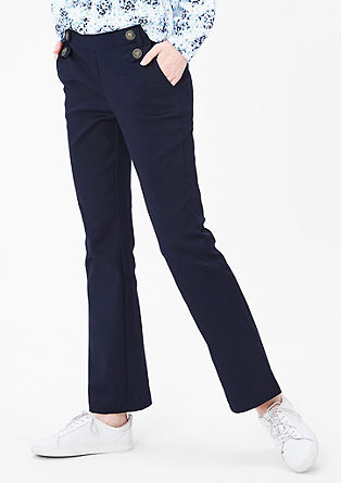 Stretchy trousers in a nautical look from s.Oliver