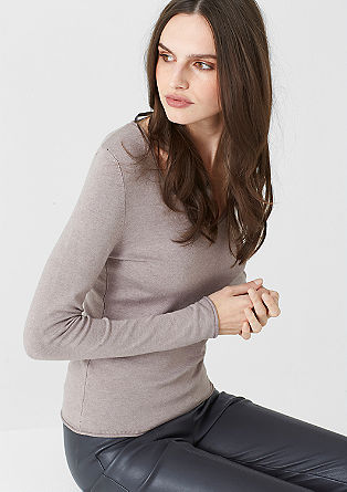 Stretchy trui met een wijde hals