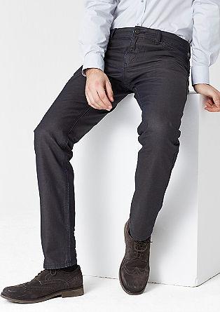 Stretto Straight: Beschichtete Jeans