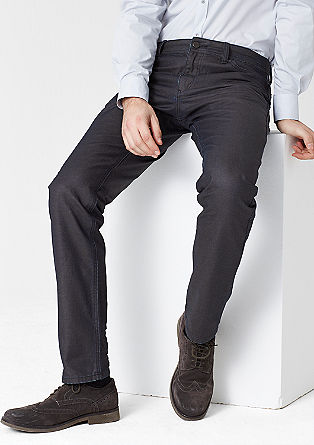 Stretto straight: coated jeans