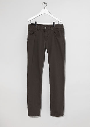 Stretto Straight: plain coloured jeans from s.Oliver