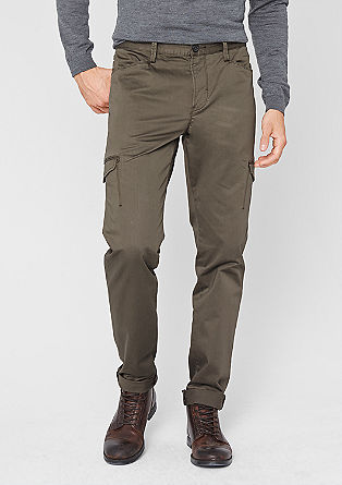 Stretto Straight: satin cargo trousers from s.Oliver
