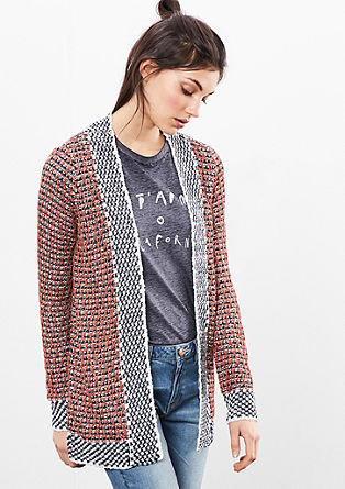 Strickjacke im Inside-Out-Look