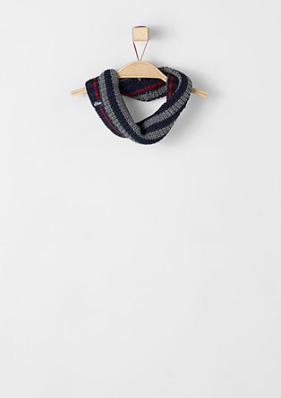Striped, chunky knit snood from s.Oliver