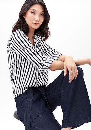 Striped blouse with a wide neckline from s.Oliver