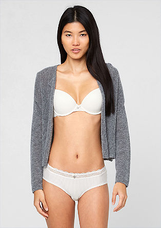 Striped briefs with lace from s.Oliver