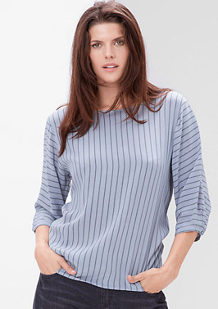 Striped crêpe blouse from s.Oliver