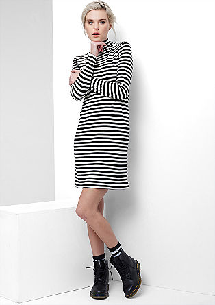 Striped dress in soft jersey from s.Oliver