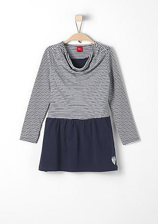 Striped dress with a cowl neckline from s.Oliver