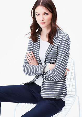 Striped fine knit blazer from s.Oliver
