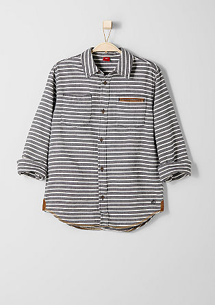 Striped herringbone shirt from s.Oliver