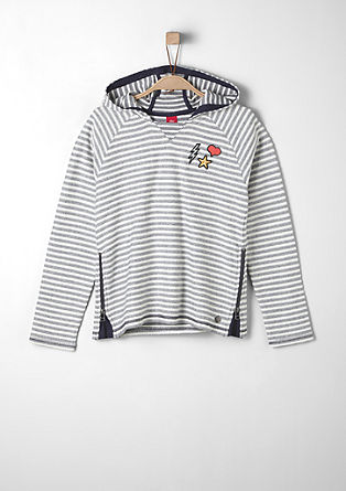 Striped hooded top from s.Oliver