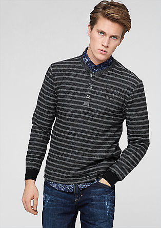 Striped inside-out sweater from s.Oliver