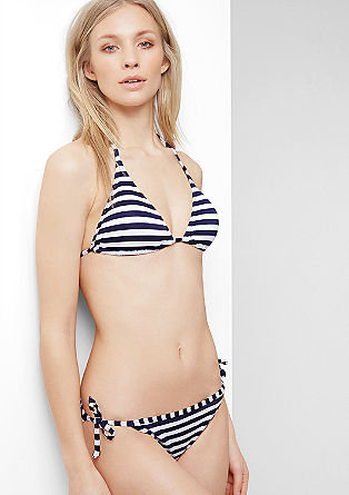 Striped jacquard bikini top from s.Oliver