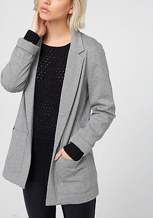 Striped jersey blazer from s.Oliver