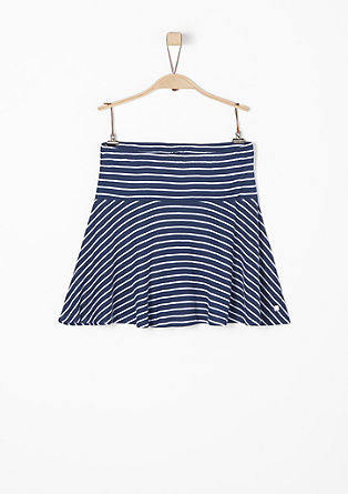 Striped jersey skater skirt from s.Oliver