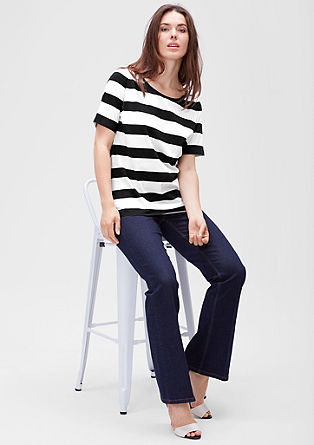 Striped jersey T-shirt from s.Oliver