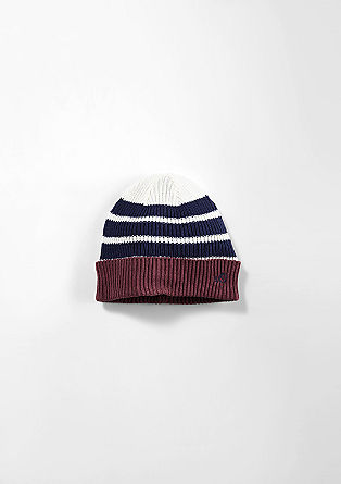 Striped knit hat from s.Oliver