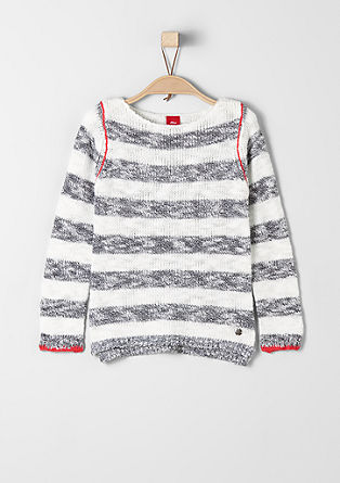 Striped knit jumper from s.Oliver