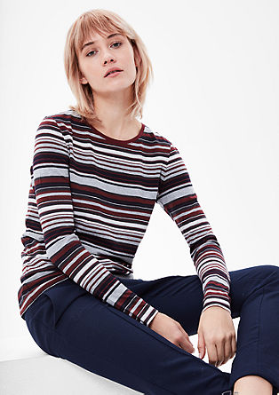Striped long sleeve jersey top from s.Oliver