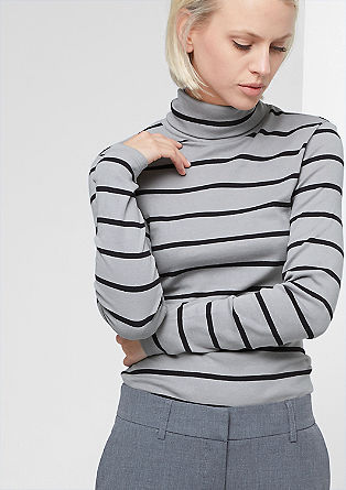 Striped roll neck top from s.Oliver
