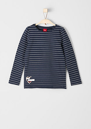 Striped sweatshirt in a layered look from s.Oliver