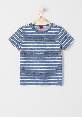 Striped T-shirt with a breast pocket from s.Oliver