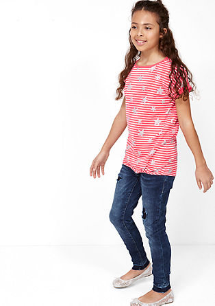 Striped T-shirt with a shiny print from s.Oliver