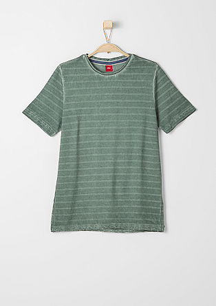 Striped T-shirt with a washed effect from s.Oliver