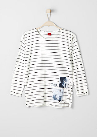 Striped T-shirt with appliqués from s.Oliver