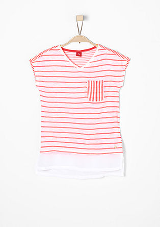 Striped top in a layered look from s.Oliver