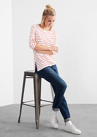 Striped top in an asymmetric design from s.Oliver