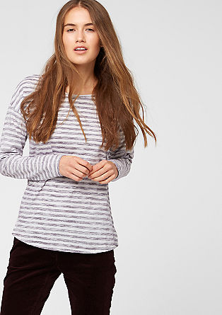 Striped top in an inside-out look from s.Oliver