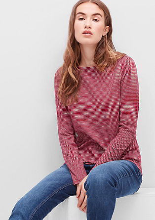 Striped top with a bateau neckline from s.Oliver