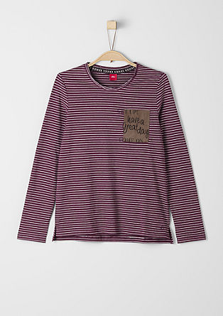 Striped top with a patch from s.Oliver