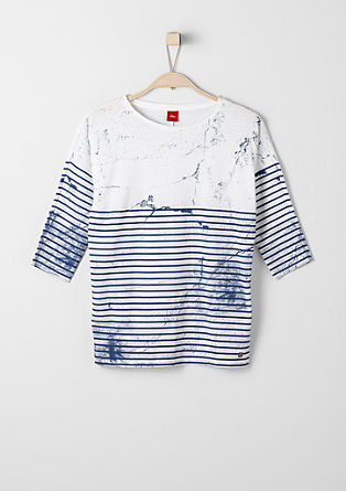 Striped top with a splash effect from s.Oliver