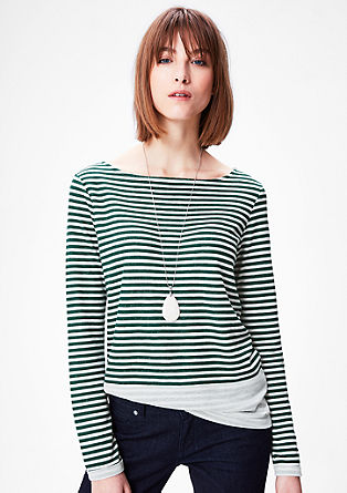 Striped top with an inside-out effect from s.Oliver