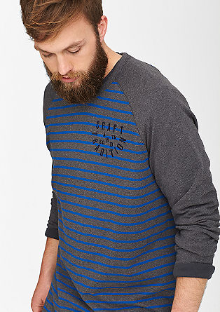Striped top with raglan sleeves from s.Oliver