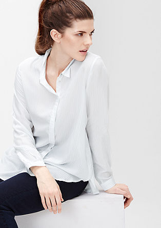 Striped viscose blouse from s.Oliver
