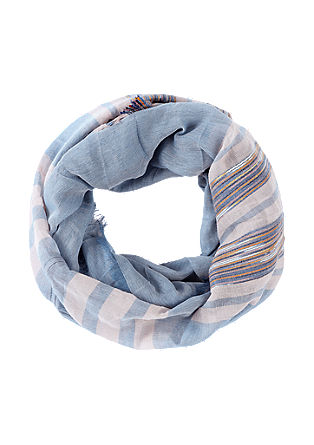 Striped woven scarf from s.Oliver