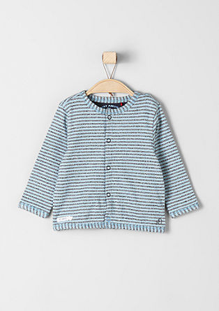 Striped zip-up sweatshirt from s.Oliver