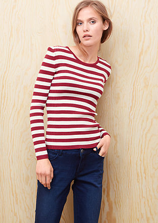 Stripy ribbed jumper from s.Oliver