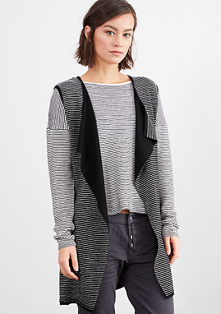 Stripy sleeveless cardigan from s.Oliver
