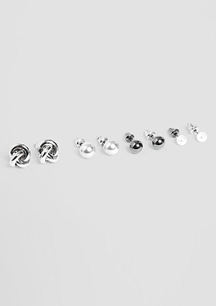 Stud earrings set, 4 pairs from s.Oliver