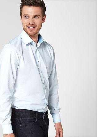 Style regular: overhemd met fijne ruiten