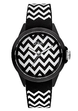 Stylische Silikonband-Uhr