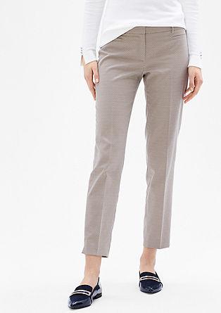 Sue Slim: 7/8 kalhoty z žakáru