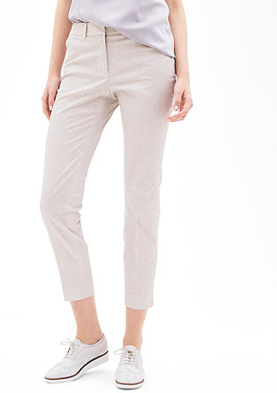 Sue Slim: 7/8-length satin trousers from s.Oliver