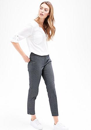 Sue Slim: 7/8 saténové kalhoty